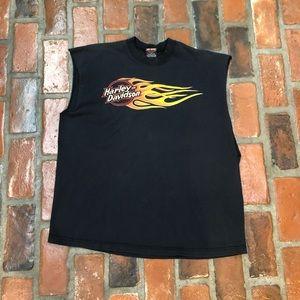 Vintage Harley-Davidson Sleeveless T-Shirt